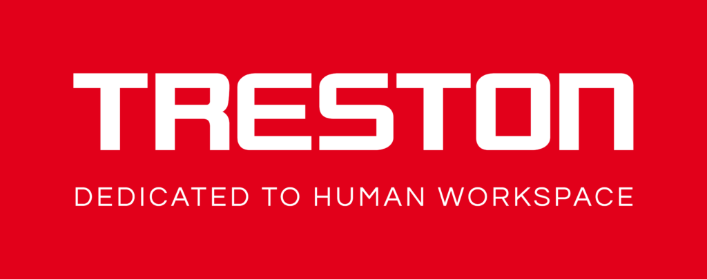 Logo Treston fabricant de poste de travail, accessoires de rangement, servantes, paillasses industrielles, poste d'emballage