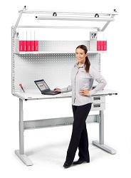 Table de travail Treston LMT modulable et électrique