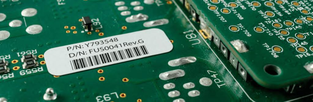 étiquette pour traçabilité de pcb B-7727 en polyimide résistance hautes températures et environnements sévères