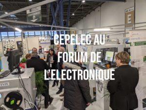 Article reportage photo du salon Forum de l'Electronique à Grenoble