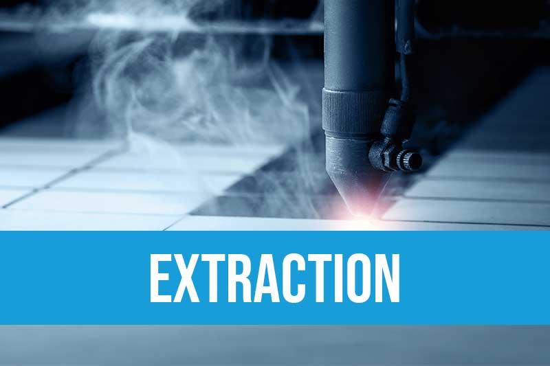 extraction, traitement, analyse de la pollution de l'air et recyclage de filtres dans l'industrie : fumées de brasage électronique, gravage & marquage laser, particules, poussières, composés organiques volatils COV, ozone, PVC