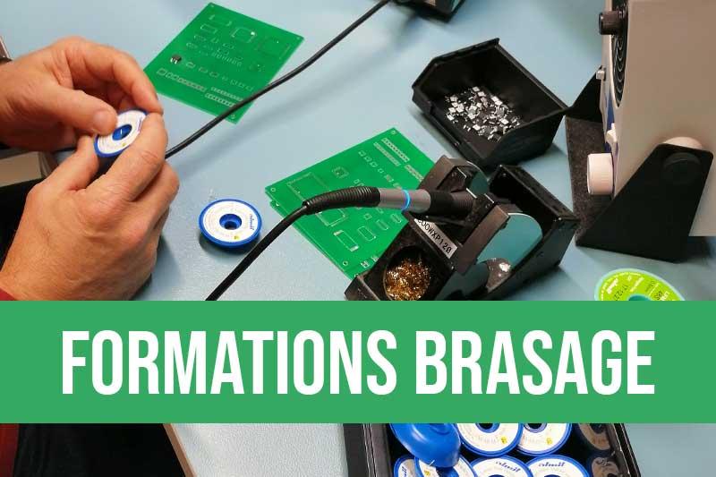 Formation brasage manuel électronique sur composants électronique CMS et traversants, contrôle visuel des cartes électroniques PCB, technique de brasage avec et sans plomb selon norme IPC-A-610 et IPC-7711 et IPC-7721, ROHS électronique