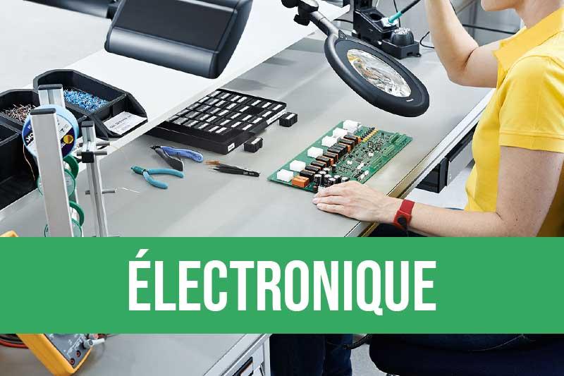 Equipements pour les ateliers électronique : poste de travail, éclairage, ESD, station de brasage, fil à souder...