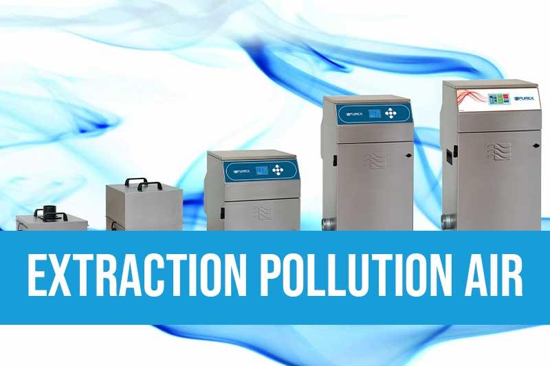 Equipements pour l'extraction de la pollution de l'air avec des systèmes autonomes de 200 à 500m3/h