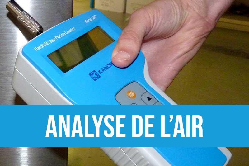 Analyse et échantillonnage de la pollution de l'air générée par les applications de brasage, laser et spéciales