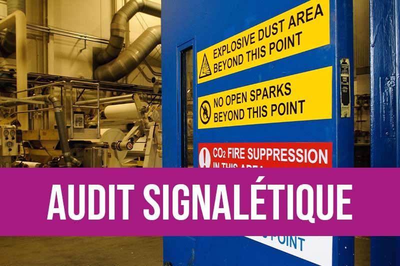 Audit de votre signalétique de sécurité marquage au sol, identification des zones à risque avec remise d'un rapport détaillé et préconisations