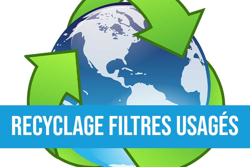 Recyclage des filtres usagés pour maîtriser son impact environnemental avec remise d'un bordereau de suivi des déchets