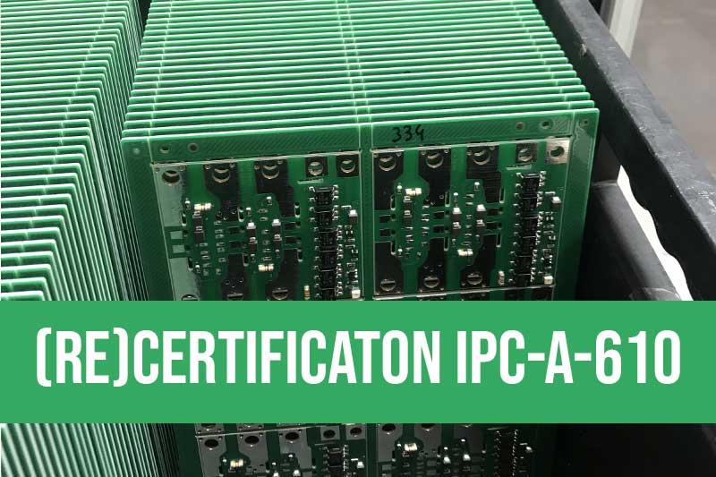 Formation certification et recertification de spécialistes à l'utilisation dela norme IPC-A-610 indice G pour le contrôle des cartes électroniques (Classe 1, 2 et 3). Recertification ipca610 en mode challenge ou certification ipc initiale