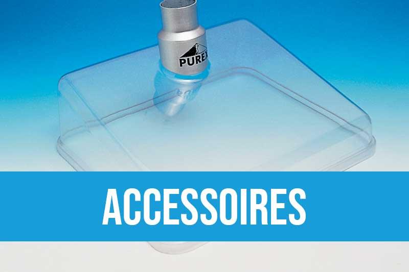 Accessoires pour machines d'extraction d'air avec hotte, buses, kit de connexion, bras...
