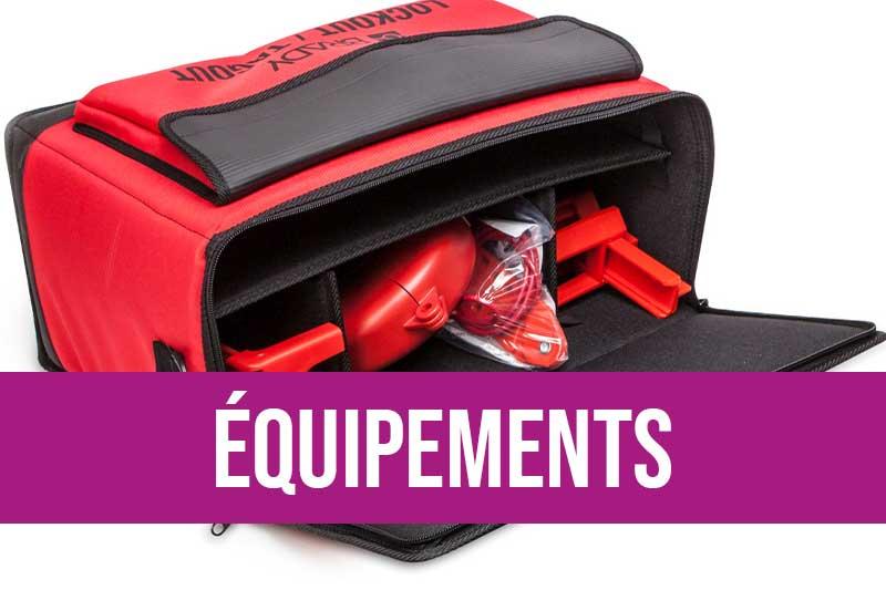 Equipements de consignation : kits de consignation, sacoches...