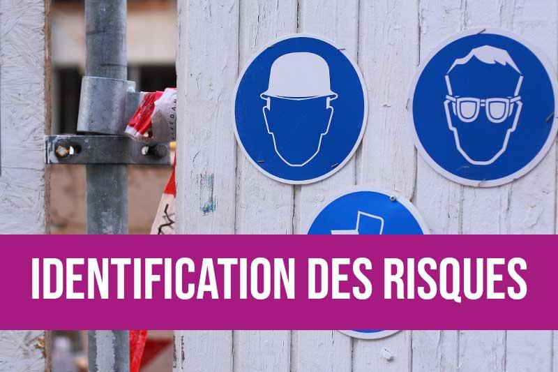 Produits d'identification des risques : pictogrammes de sécurité, marquage au sol, étiquettes CLP, balisage, suivi d'état d'équipements et autres