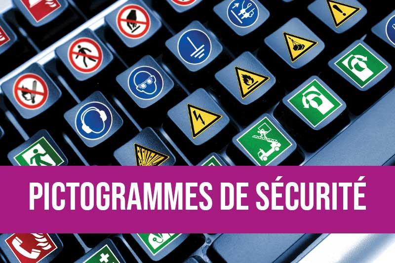 Pictogrammes de sécurité pour indication obligation et interdiction conformes à la norme NF EN ISO 7010