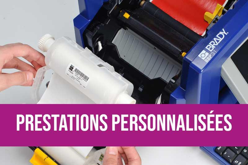 Impressions sur-mesure d'étiquettes de sécurité pour l'identification des risques ou la traçabilité des produits avec votre logo et vos informations