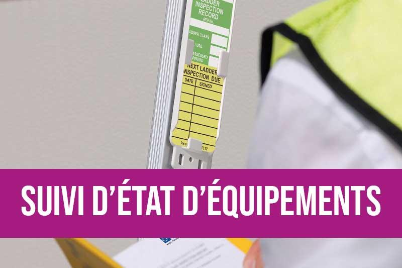 Suivi de l'état de vos équipements pour éviter tout accident et préserver la bonne tenue de vos ateliers. Etiquettes pour chronologie de maintenance et d'entretien