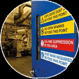 optez pour des étiquettes, panneaux de signalisation, pictogramme de sécurité, marquage et balisage pour assurer la sécurité sur votre site de production
